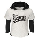NFL Boys' New Orleans Saints Banner Faux Layer Hoodie