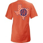 Three Squared Juniors' Sam Houston State University Quatrefoil State Monogram T-shirt