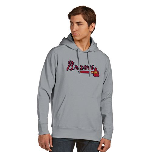 Antigua Men's Atlanta Braves Signature Pullover Hoodie