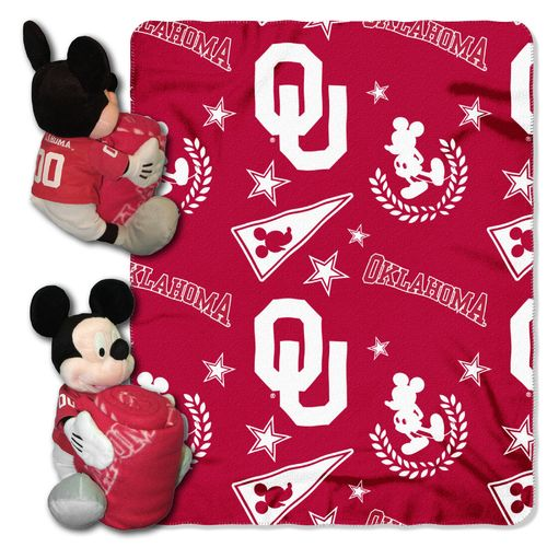 The Northwest Company University of Oklahoma Mickey Mouse Hugger and Fleece Throw Set