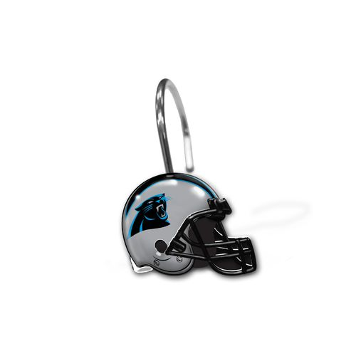 The Northwest Company Carolina Panthers Shower Curtain Rings 12-Pack