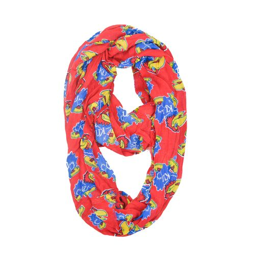 ZooZatz Women's University of Kansas Logo Infinity Scarf