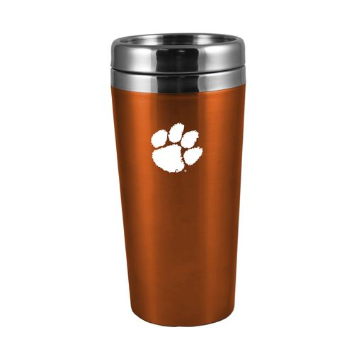 The Fanatic Group Clemson University 16 oz. Rubberized Stainless-Steel Tumbler