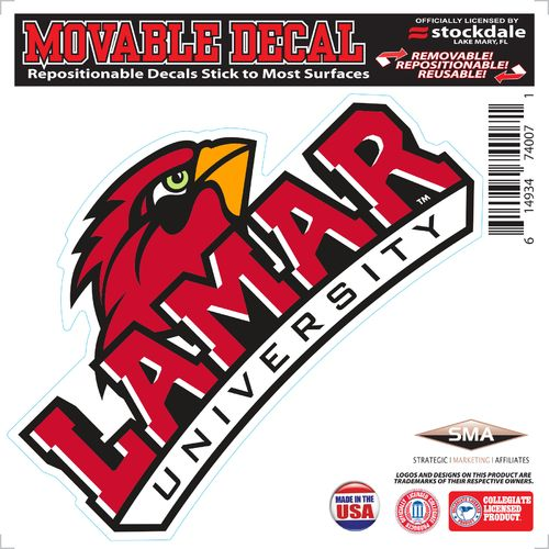 "Stockdale Lamar University 6"" x 6"" Decal"