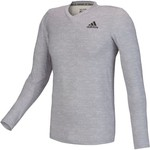 adidas™ Men's Team Issue Base Heather Fitted Long Sleeve T-shirt