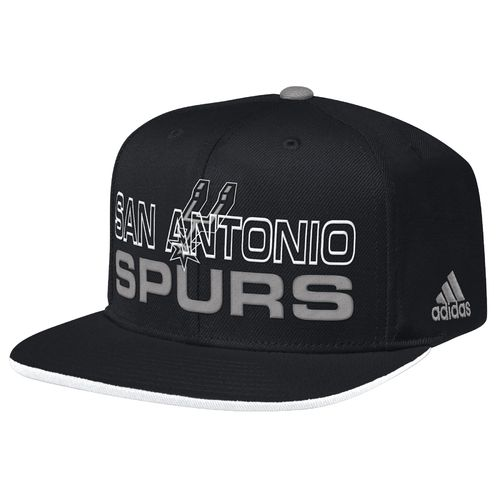 adidas Men's San Antonio Spurs Team Nation Flat Brim Snapback Ball Cap