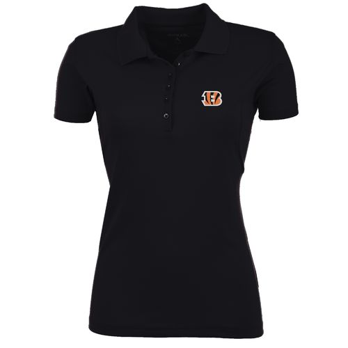 Antigua Women's Cincinnati Bengals Pique Xtra-Lite Polo Shirt