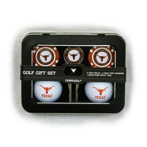 Team Golf University of Texas 2-Ball Tin Gift Set