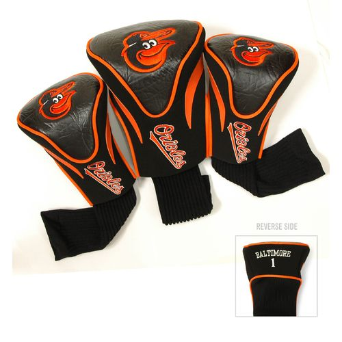 Team Golf Baltimore Orioles Contour Sock Head Covers 3-Pack