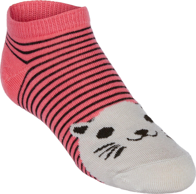 BCG™ Girls' Pattern No-Show Socks 6-Pack