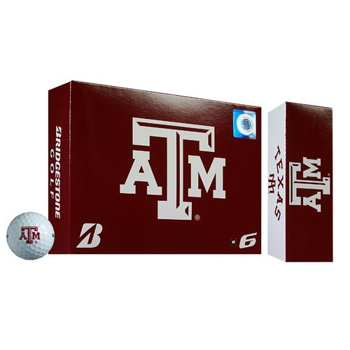 Bridgestone Golf Texas A&M University 2015 e6 Golf Balls 12-Pack