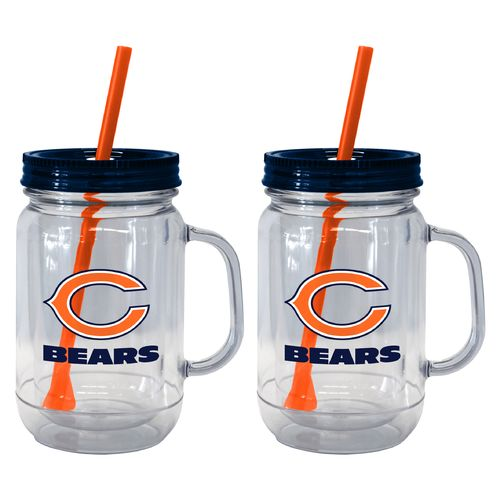 Boelter Brands Chicago Bears 20 oz. Handled Straw Tumblers 2-Pack