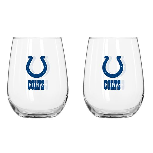 Boelter Brands Indianapolis Colts 16 oz. Curved Beverage Glasses 2-Pack