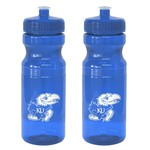 Boelter Brands University of Kansas 24 oz. Squeeze Water Bottles 2-Pack - view number 1