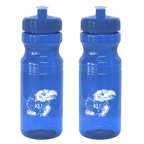 Boelter Brands University of Kansas 24 oz. Squeeze Water Bottles 2-Pack