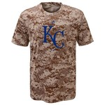 Majestic Boys' Kansas City Royals Digi Camo Sublimated Cool Base T-shirt