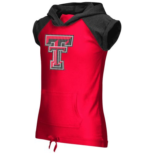 Colosseum Athletics Girls' Texas Tech University Jewel Short Sleeve Hoodie