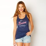 Soft As A Grape Women's Atlanta Braves Diamonds Are a Girl's Best Friend T-shirt