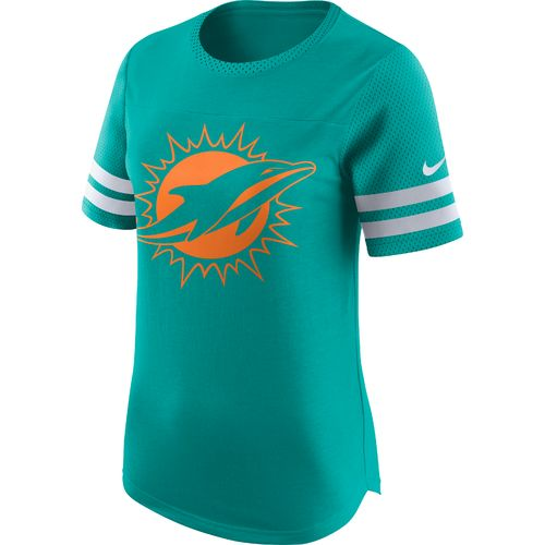 Display product reviews for Nike Women's Miami Dolphins Gear Up Modern Fan Top