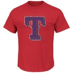 Majestic Men's Texas Rangers Push Through T-shirt