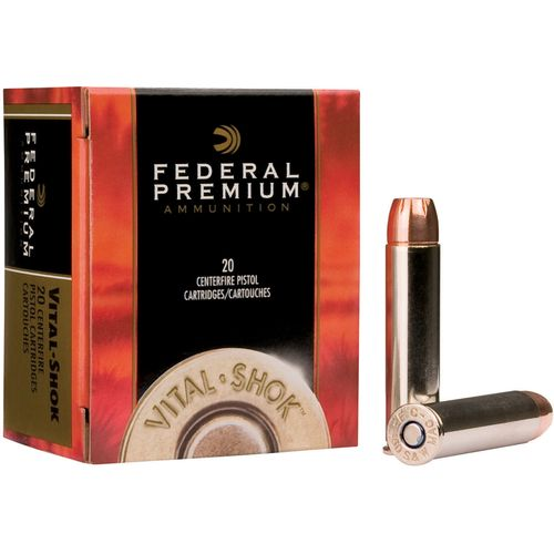 Display product reviews for Federal Premium Vital-Shok .44 Remington 225-Grain Centerfire Handgun Ammunition