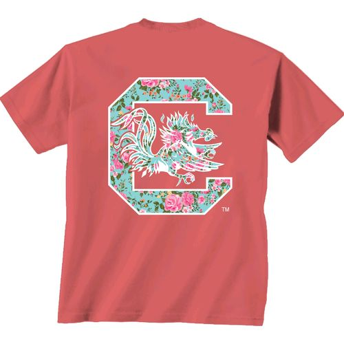 New World Graphics Women's University of South Carolina Floral T-shirt