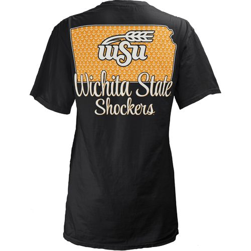 Three Squared Juniors' Wichita State University State Monogram Anchor T-shirt