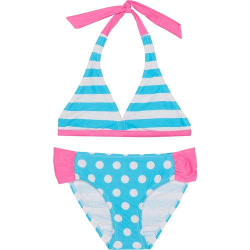 O'Rageous Kids Girls' Dots All Reversible 2-Piece Bikini