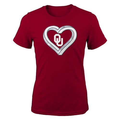 Gen2 Girls' University of Oklahoma Infinite Heart Fashion Fit T-shirt