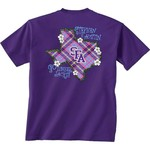 New World Graphics Women's Stephen F. Austin State University Bright Plaid T-shirt