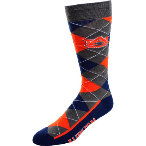 FBF Originals Men's Auburn University Argyle Zoom Dress Socks