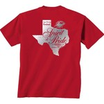 New World Graphics Women's Lamar University Silver State Distress T-shirt