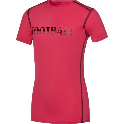BCG™ Boys' Football Word Short Sleeve Compression T-shirt