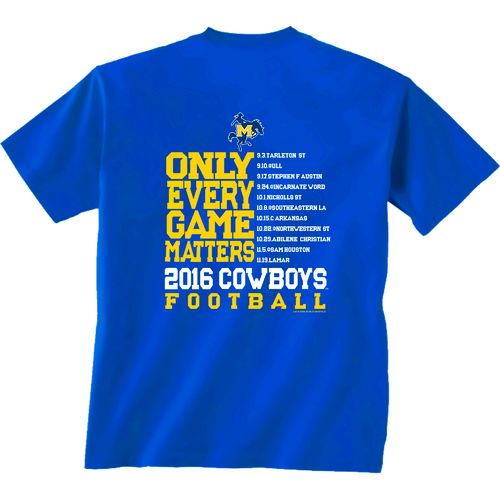 New World Graphics Men's McNeese State University Schedule T-shirt