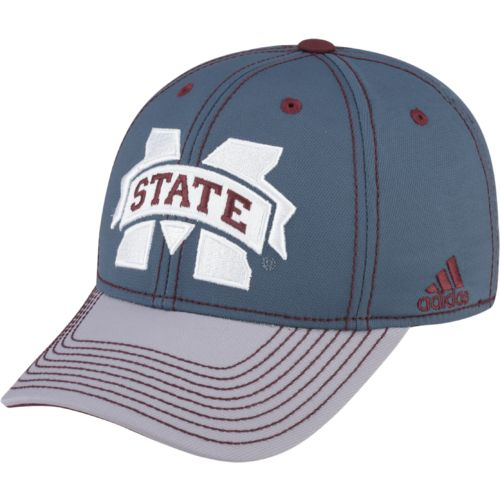 adidas™ Men's Mississippi State University 2-Tone Flex Charcoal Cap
