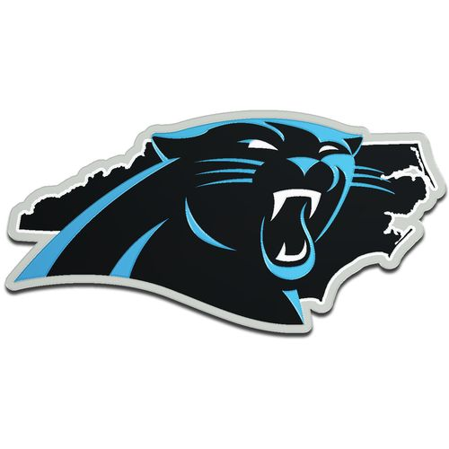 Stockdale Carolina Panthers Acrylic State Shape Auto Emblem