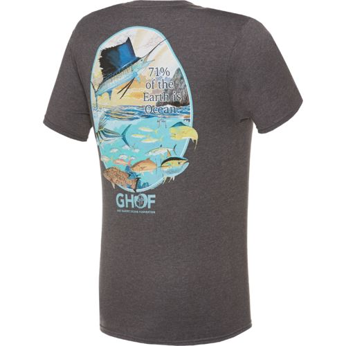 Guy Harvey Men's Ocean Wide Short Sleeve Pocket T-shirt