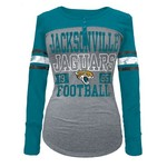 5th & Ocean Clothing Juniors' Jacksonville Jaguars Long Sleeve Henley