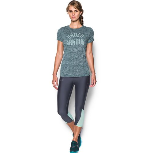 Display product reviews for Under Armour Women's UA Graphic Twist Tech Crew Neck T-shirt