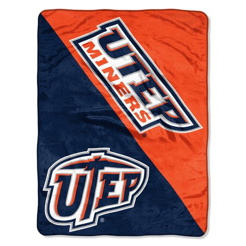 The Northwest Company University of Texas at El Paso Varsity Micro Raschel Throw