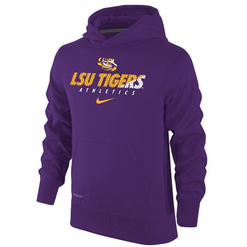 Nike Boys' Louisiana State University Therma-FIT KO Hoodie