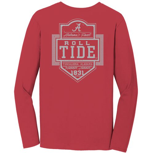 Image One Men's University of Alabama Finest Shield Comfort Color Long Sleeve T-shirt