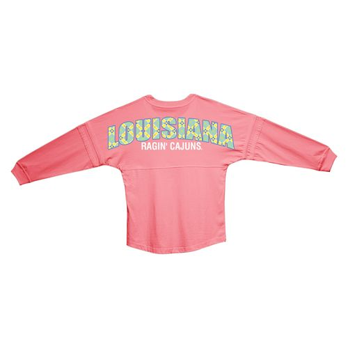 Boxercraft Women's University of Louisiana at Lafayette Coral Pom Pom Jersey