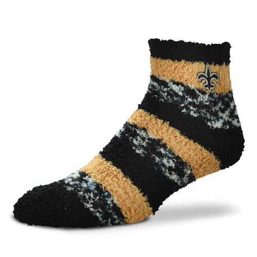 FBF Originals Women's New Orleans Saints Pro Stripe Sleep Soft Socks