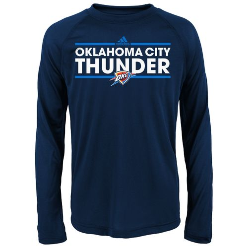 adidas Boys' Oklahoma City Thunder Dassler Long Sleeve T-shirt