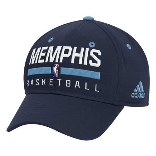 adidas™ Men's Memphis Grizzlies Practice Structured Flex Cap