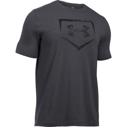 Under Armour Men's Baseball Plate Logo Charged Cotton T-shirt