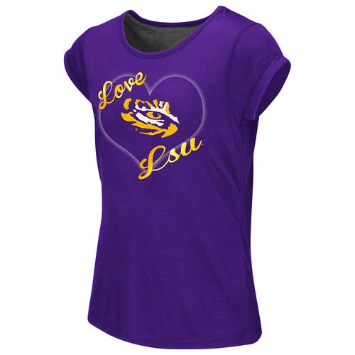 Colosseum Athletics™ Girls' Louisiana State University Baywatch Split Back T-shirt