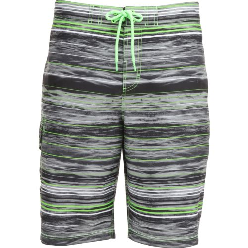 O'Rageous Men's Abstract Stripe True Boardshort