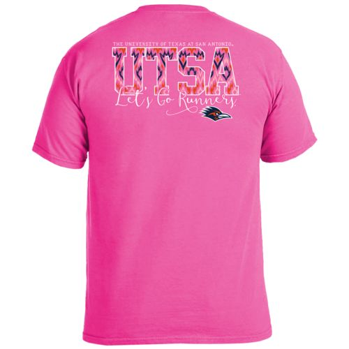 Image One Women's University of Texas at San Antonio Ikat Letter Script T-shirt